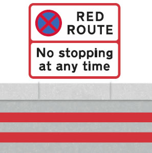 Red route no stopping
