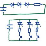 Schematic of Series Parallel Circuit